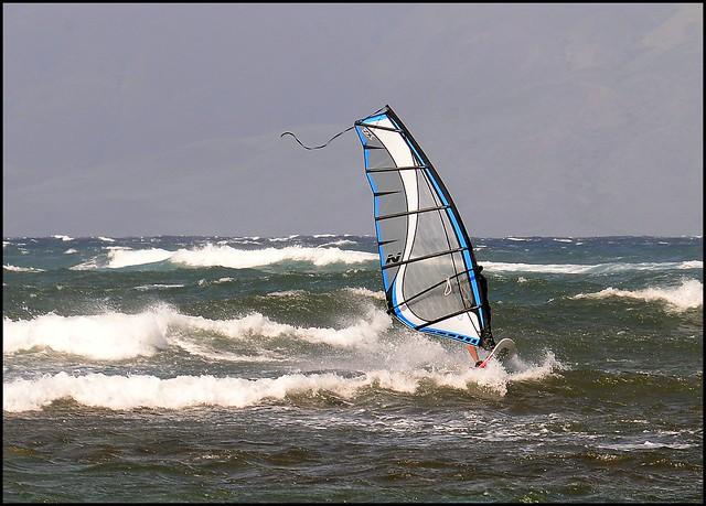 Windsuring off Shipwreck Beach, Lanai 2