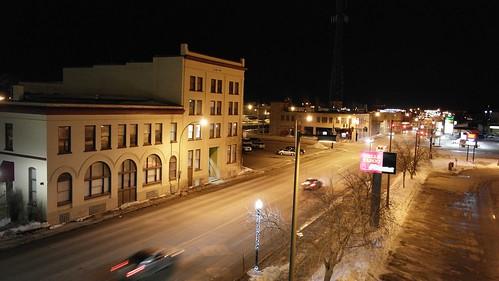city cars night buildings lights main broadway fargo arialview fargonorthdakota fargodowntown oldfargotown samsung50200mmf4056edoisiilense samsungext50200iblense