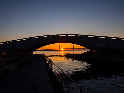 japan sunrise reflections day clear yokohama kanagawa yokohamabaybridge briges