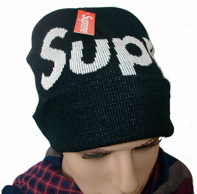 6865fc9a Supreme Big Logo Beanie Hats Black | www.strapbacksale.com/s… | Flickr