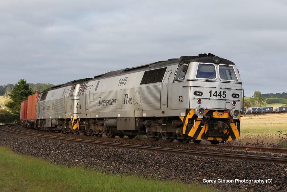 1445 & 1437 Independent Rail Australia Loco's at Werai by Corey Gibson