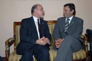 Aécio Neves e Stuart Gilman - Encontro - 02/08/2007