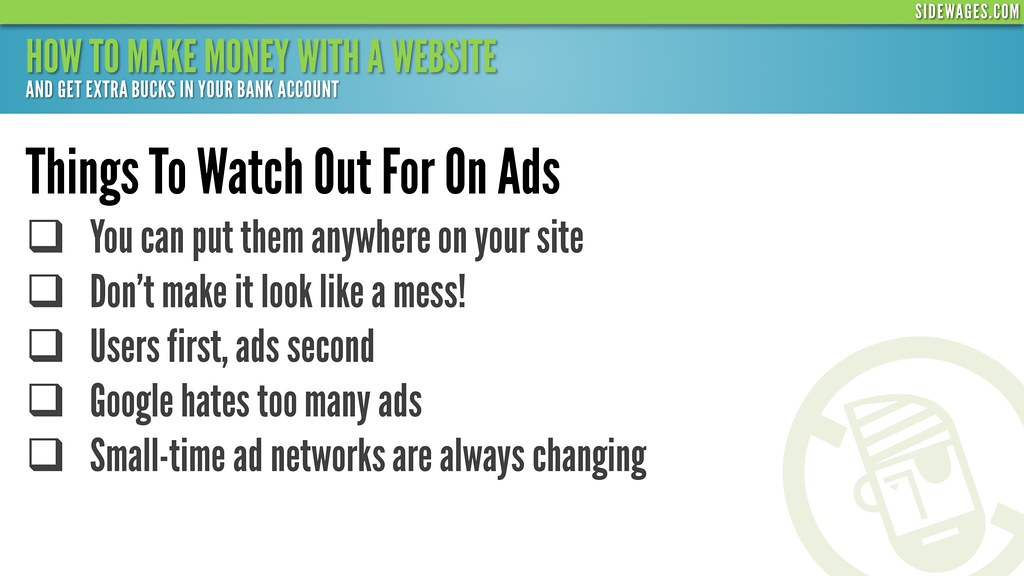 ... How to Make Money With a Website - PowerPoint Slide #06 - by SideWages