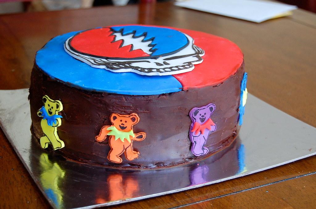 Grateful Dead cake 2 | German chocolate cake with caramel co… | Flickr