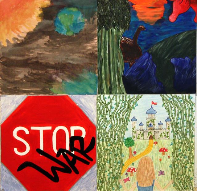 Students in the DSHS Art Dept. at Denham Springs High School in Louisiana