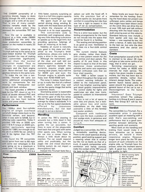 Triumph TR7 Convertible Road Test 1980 (2)