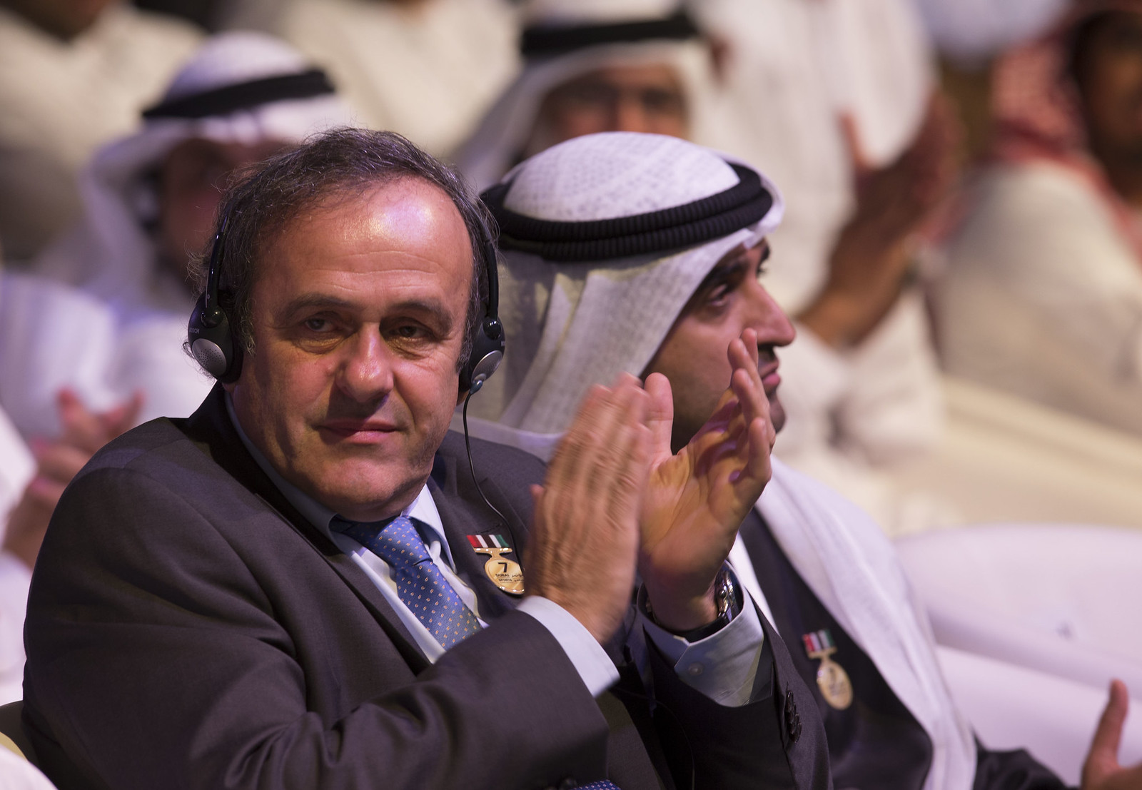 Michel Platini and Ahmed Al Sharif