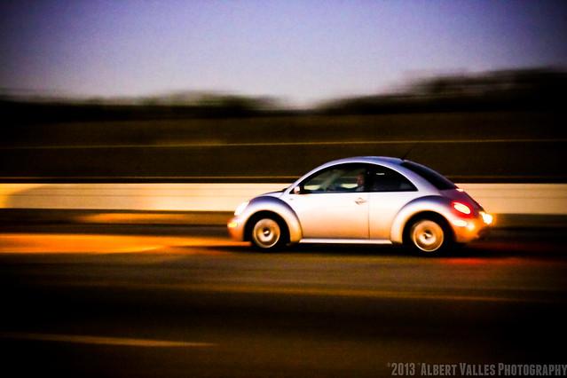 Beetle speed at twilight!