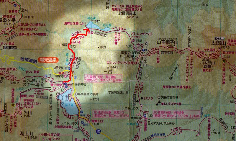 切込湖刈込湖の地図