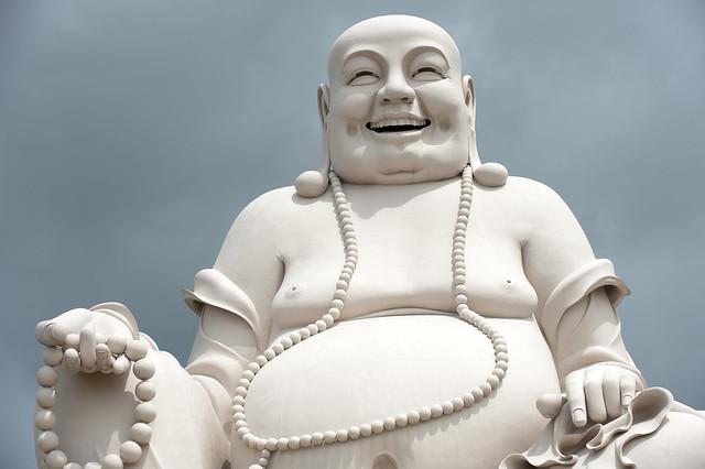 V074  Happy Buddha - Chua Vinh Trang Temple