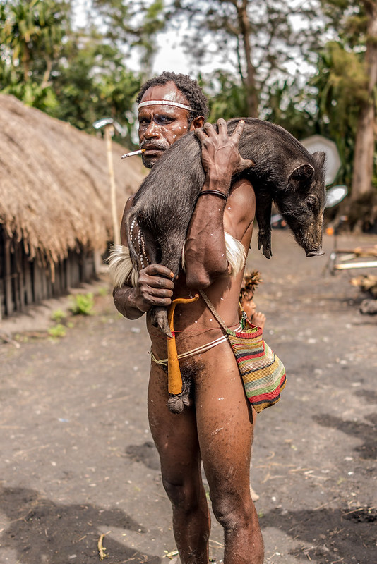 Man with Piglet