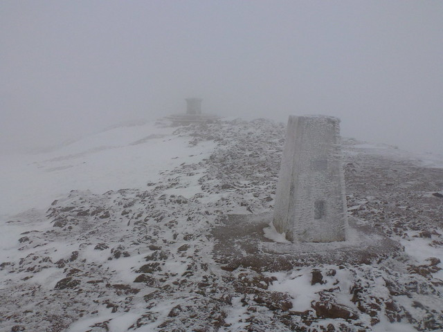Worcestershire Beacon in a blizzard