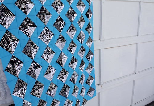 Black and White Kites Quilt Top | by Everyday Fray