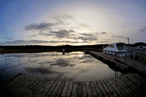 ireland winter water marina reflections river lumix boat flood harbour fisheye panasonic shannon boyle 75mm m43 mft gh3 samyang knockvicar taramarina rosommon