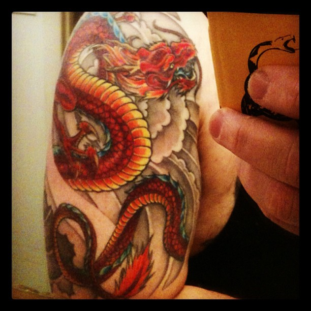 My fire dragon done by Brian Garber at Wizards World Of To… | Flickr