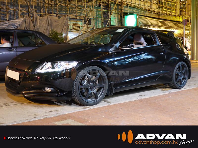 "Honda CR-Z with 18"" Rays VRG2 wheels"