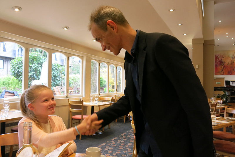 Jorja and Andy Griffiths