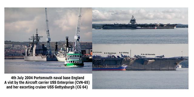USS Enterprise at Portsmouth UK 2004