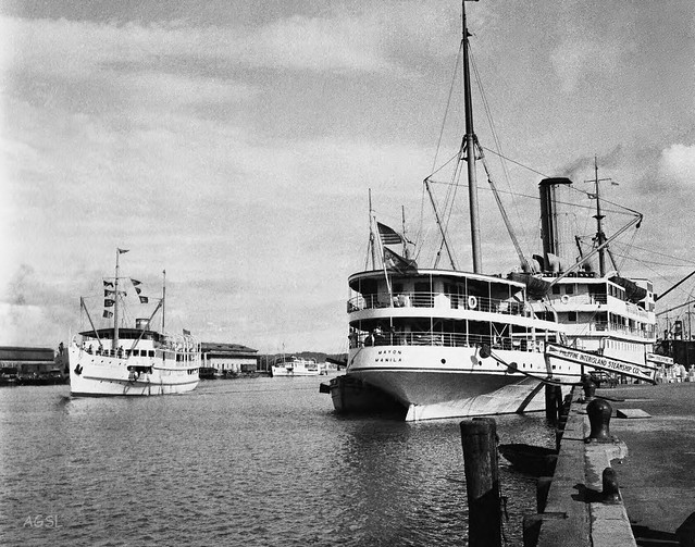 S. S. Princes of Negros and S. S. Mayon at wharf, Iloilo, Philippines, Aug. 23, 1933