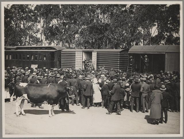 A lecture on pure bred stock [Better Farming Train Album]