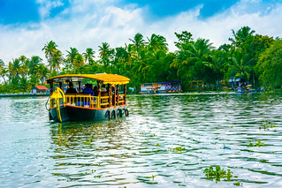 Shikara Boats in Alleppey Backwaters | by wandercrumbs