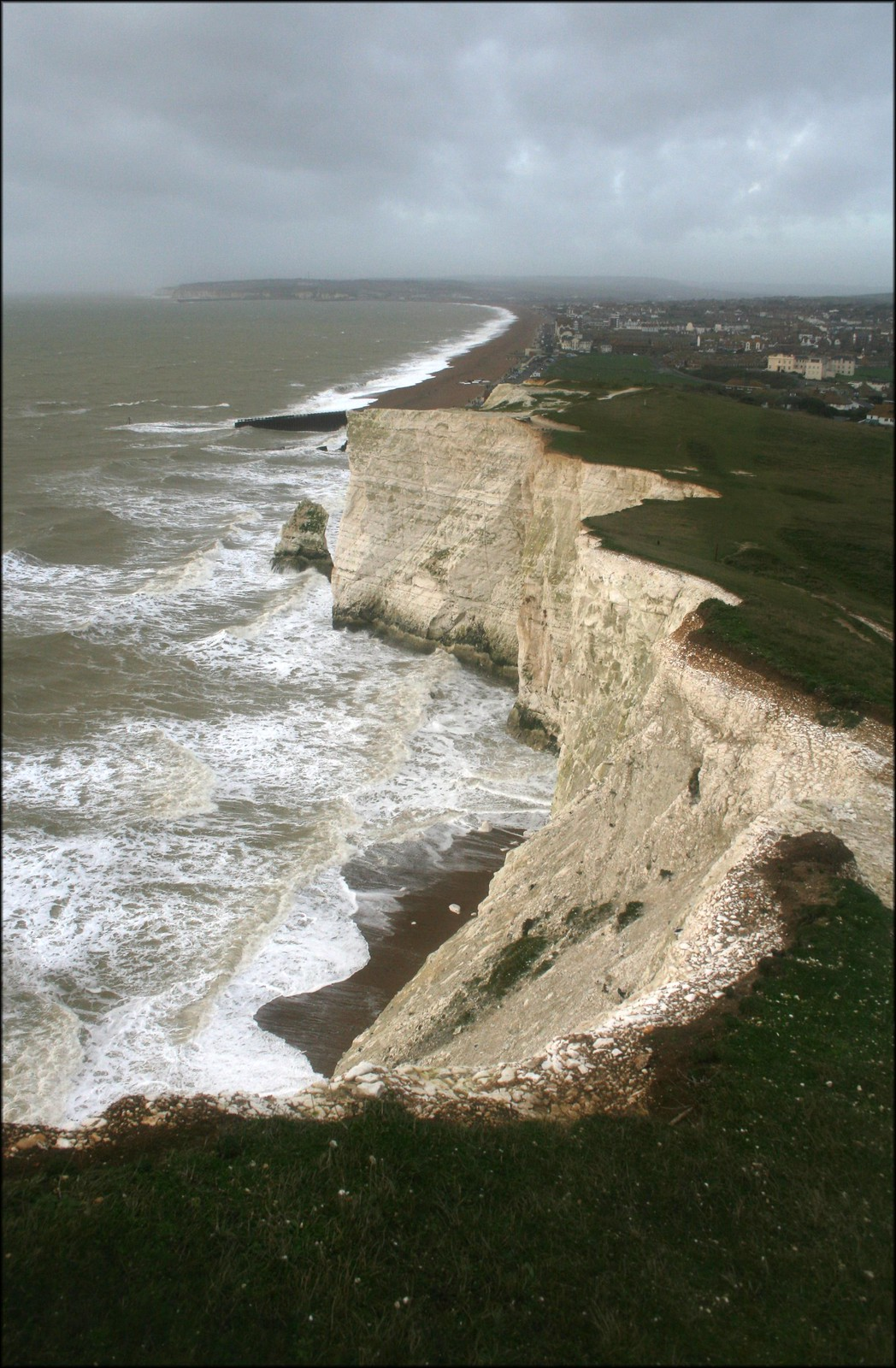 Seaford The chalk cliffs on the eastern edge of Seaford