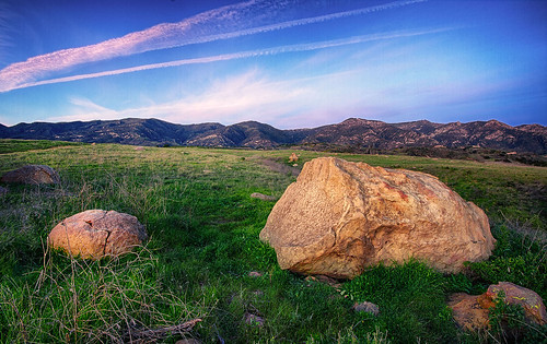 pink blue sunset mountains green grass rock santabarbara sandstone boulders hdr sigma1020mm hdrunlimited hdrextremes hdraddicted canon7d sanmarcospreserve