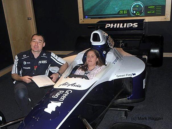 The Williams Simulator, built around Jenson Button's car