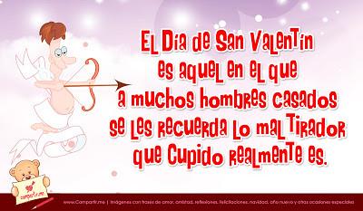Frase Graciosa Por El Día De San Valentín Con Imagen De Cu
