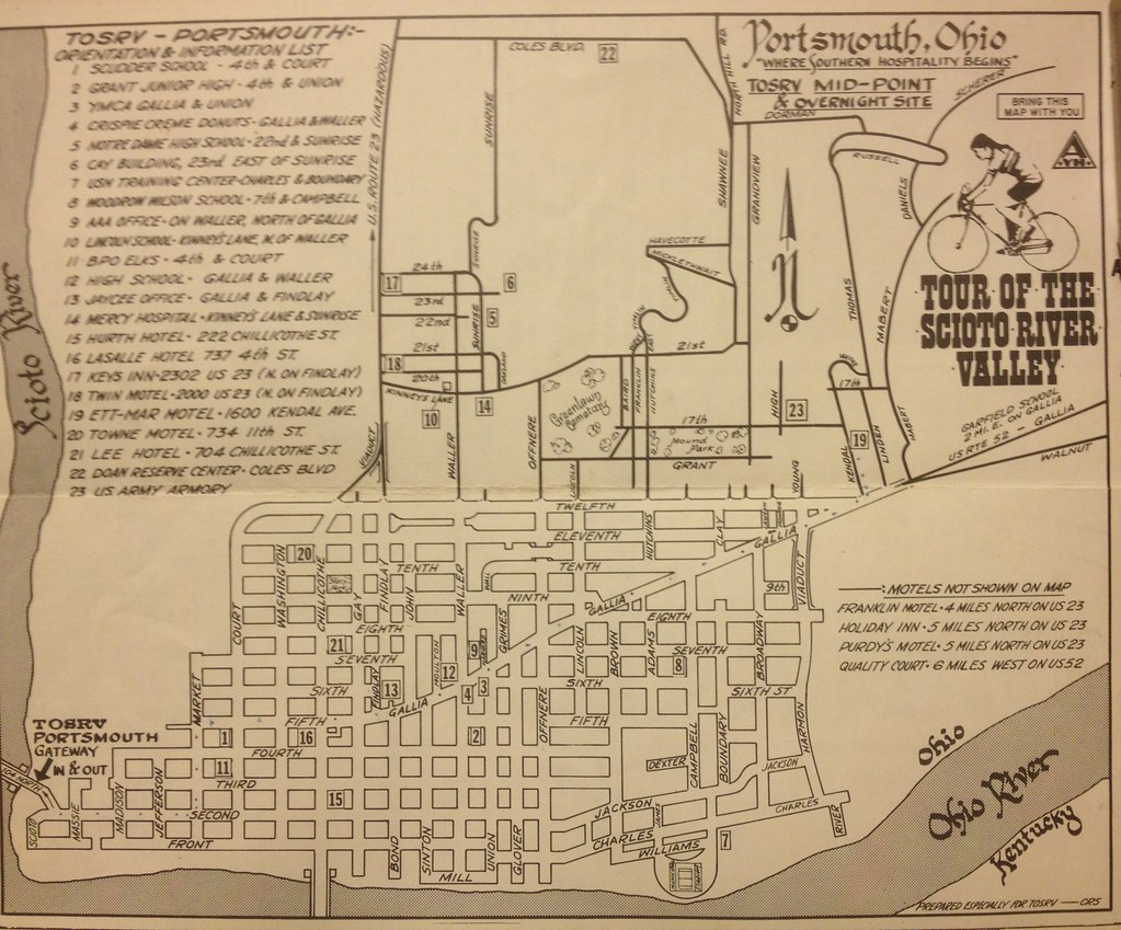 1969 Tosrv Schematic Map Of Portsmouth Ohio Drawn By Charl