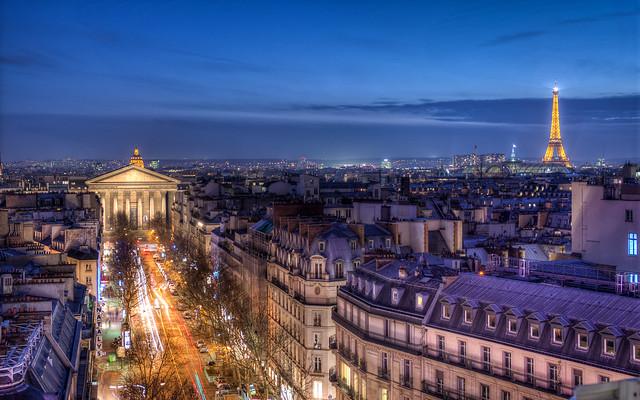 Paris, vue depuis la terrasse du