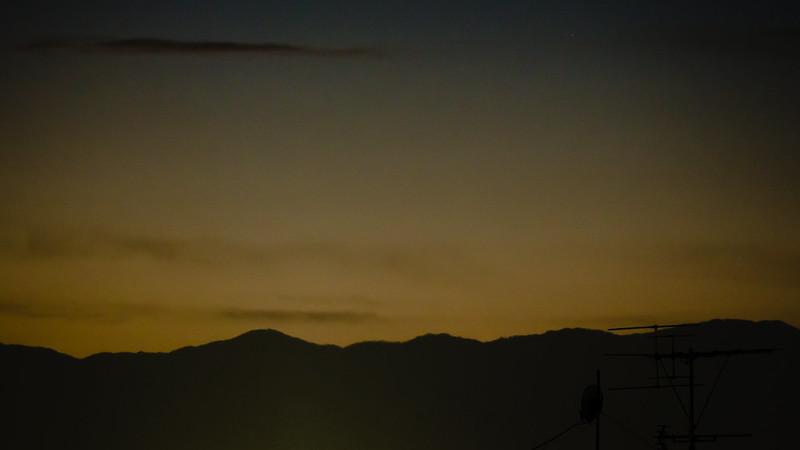 沈むパンスターズ彗星(2013/3/12)