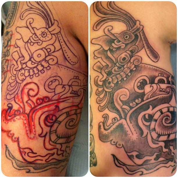 Mayan God Chaac God Of Thunder And Rain Tattoo Tattoos