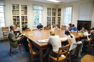 A 2004 Classics class with Professor Richard McKirahan in the newly renovated Crookshank Hall.