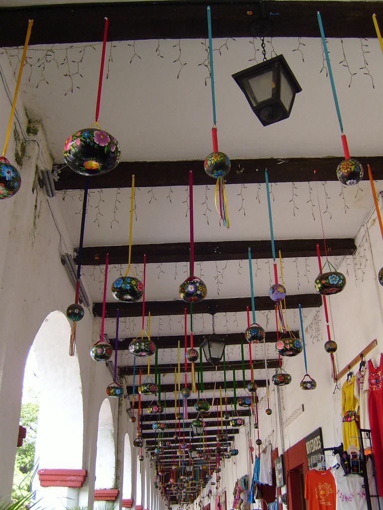 Huacales El Techado Interior Del Portal Decorado Con Huaca