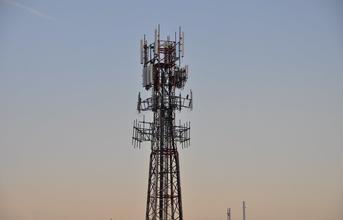 Cell Tower at Sundown | by CLender