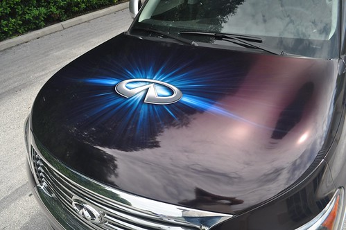 Vehicle wrap hood graphic by TechnoSigns