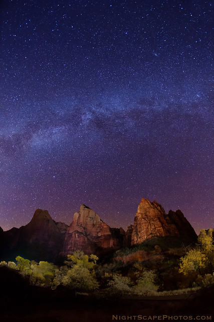 Milky Way over Court of the Patriarchs