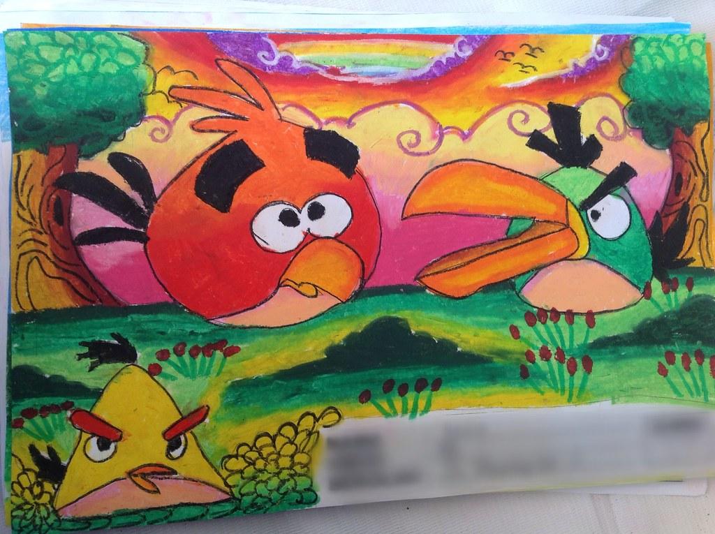 Angrybirds 1 Kreasi Kreatif Mewarnai Sishantie Flickr