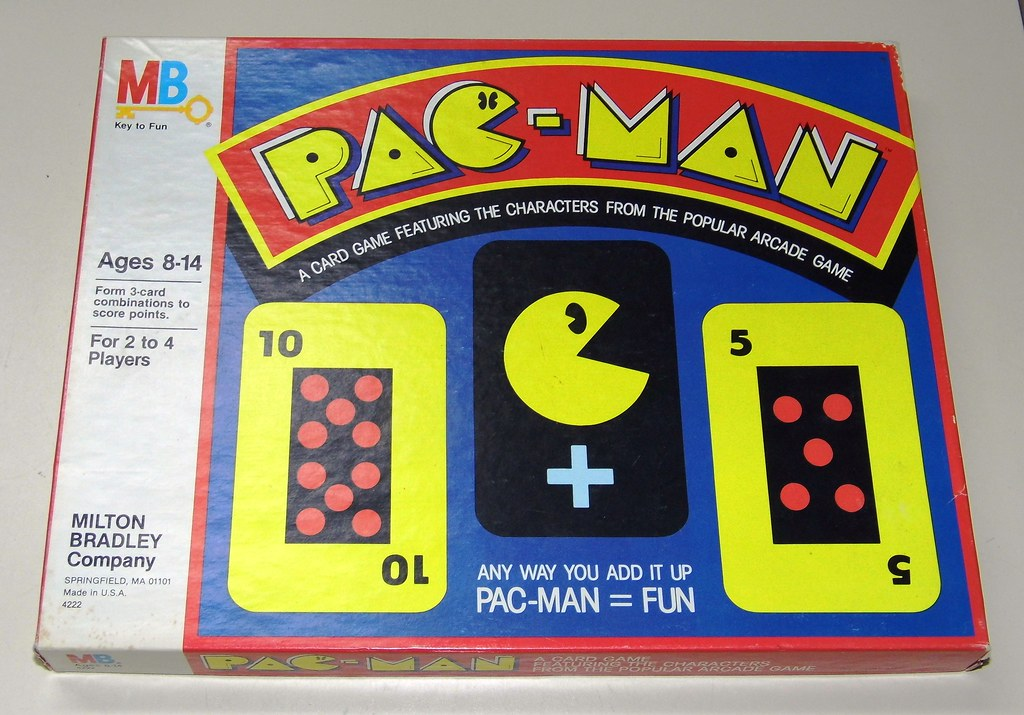 Vintage Pac-Man Card Game by Milton Bradley, Dated 1982