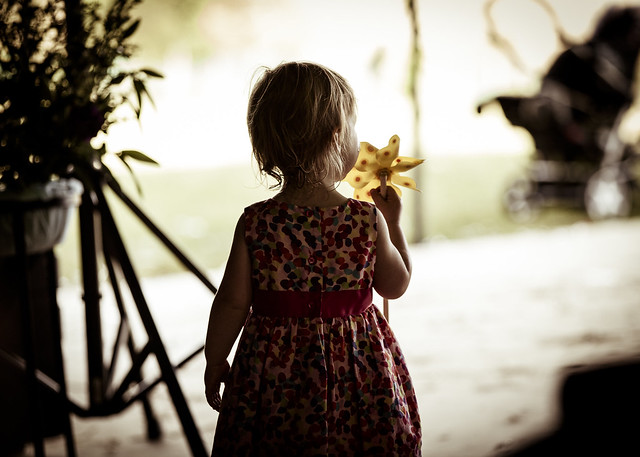 Little lady at a wedding