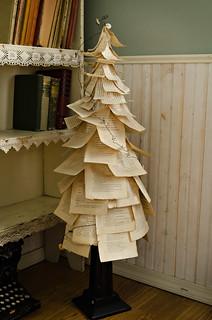 Vintage Book Paper Tree | by roniwood63