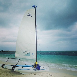 Sailboat on beach Turks and Caicos | by Downtown Traveler