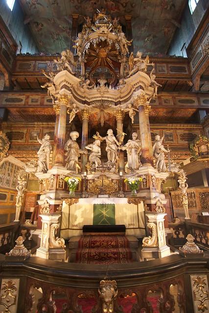 Ołtarz (1752) w Kościele Pokoju w Świdnicy