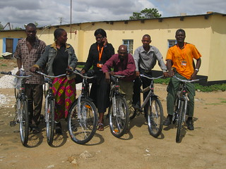 Six of the Kalomo Promoters with their bicycles | by ColaLife