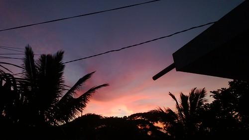 sunset orange sun dusk tinyplane