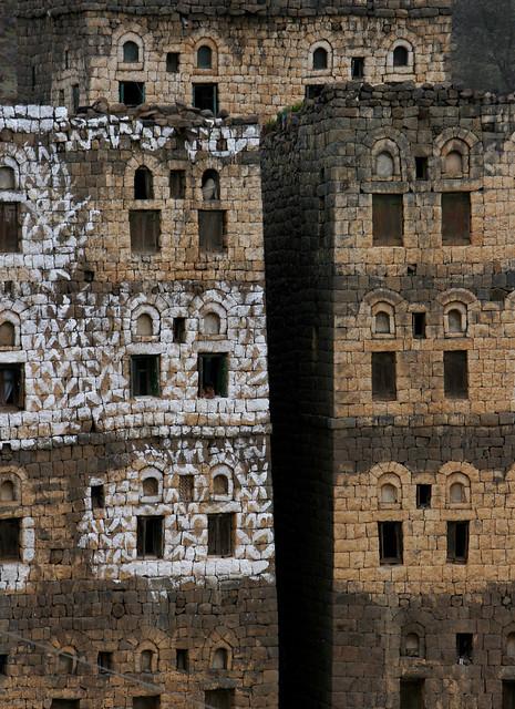 Yemen: architecture dans le djebel Haraz.