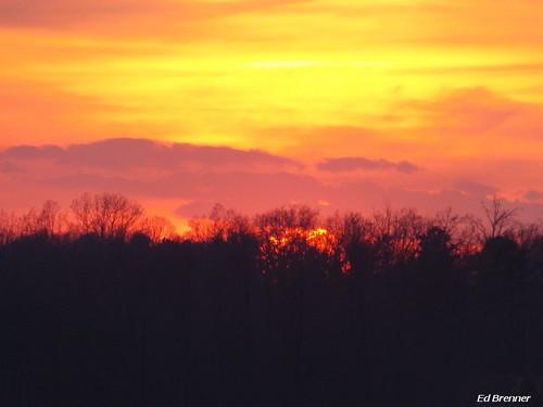lake water sunrise colorful northcarolina rowancounty