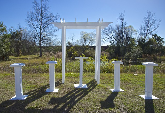 Decorative Columns, Slimline Small Podium and Arbor (4')