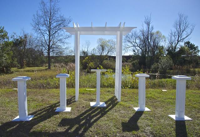 Decorative Columns, Slimline Small Podium and Arbor (4')